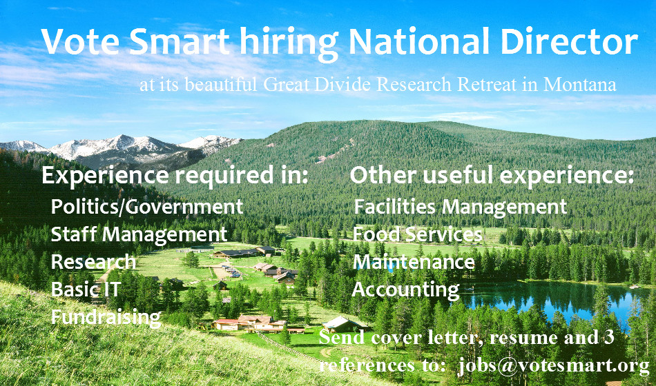 Vote Smart Hiring National Director